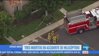 Helicóptero Estrella Contra Una Casa Los Ángeles