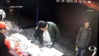 hombre aparentemente ebrio dispara empleado puesto comida puebla