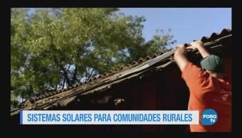Sistemas de energía solar para comunidades del país sin energía