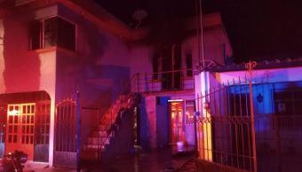 Incendio deja a dos menores con quemaduras severas en Aguascalientes