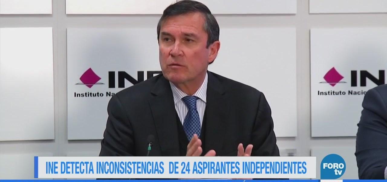 INE detecta inconsistencias de 24 aspirantes independientes