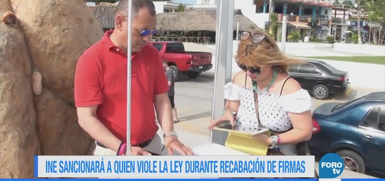 INE sancionará a quien viole la ley durante recolección de firmas