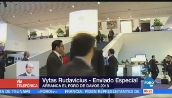 Inicia el Foro Económico Mundial de Davos