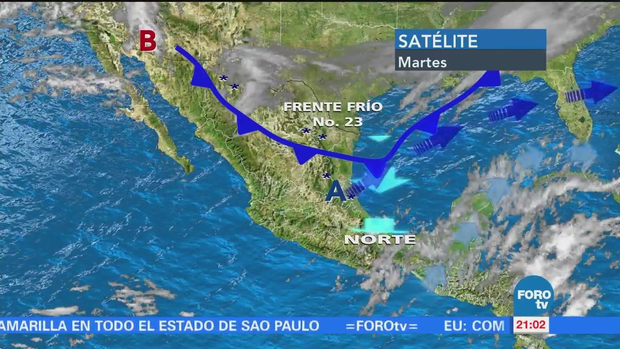Intenso frío en México por paso del frente frío número 23
