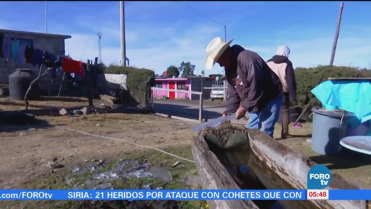 Intenso frío, enemigo a vencer para comunidades cercanas al Nevado de Toluca