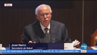 José Narro rinde informe sobre conjuntivitis que padeció Peña Nieto