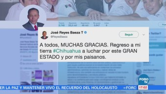 José Reyes Baeza deja dirección del ISSSTE para buscar senaduría