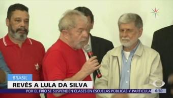 Juez de Brasil rechaza recurso para evitar detención de Lula da Silva