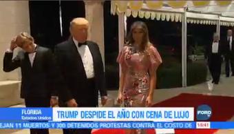 Lujosa Cena Año Nuevo Donald Trump Presidente De Estados Unidos