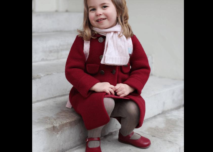 La princesa Carlota asiste a la guardería. (EFE)