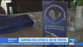 Lanzan Campaña Evitar Uso Popotes Huatulco