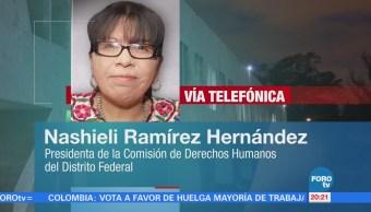 irregularidades caso Marco Antonio Sánchez Nashieli Ramírez Hernández, presidenta de la Comisión de Derechos Humanos de la CDMX,