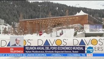 Líderes mundiales se reúnen en Foro Económico en Davos