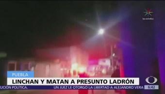Linchan a presunto ladrón en San Martín Texmelucan, Puebla