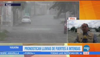 Lluvias en Yucatán provocan encharcamientos