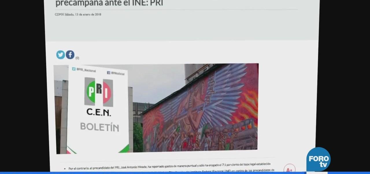 López Obrador y Anaya no han reportado gastos, asegura el PRI