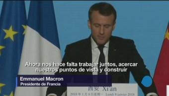 Macron 'roba cámara' en el mundo