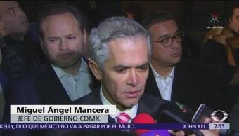 Mancera desea suerte a Barrales, dice que se refrenda compromiso de transparencia