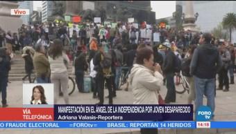 Manifestación Ángel Independencia Joven Desaparecido