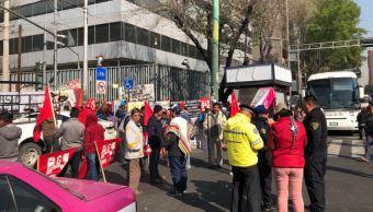 Bloqueos en el centro y el sur de la Ciudad de México