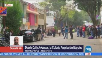 Manifestantes Bloquean Calle Arkansas Cdmx
