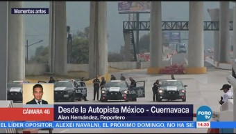 Manifestantes terminan toma de caseta en la autopista México Cuernavaca