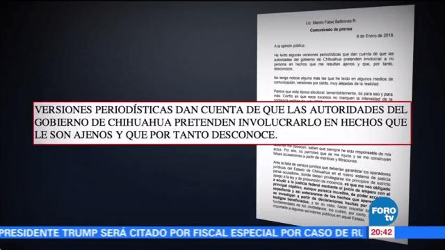 Manlio Fabio Beltrones solicita amparo