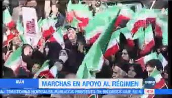 Marchas Apoyo Régimen Irán Iraníes Participan