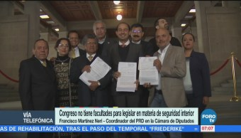 Martínez Neri: Congreso no tiene facultades para legislar en materia de seguridad