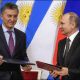 Mauricio Macri y Vladimir Putin en Moscú. (Reuters)