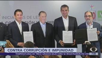 Meade presenta paquete de reformas para combatir la corrupción y la impunidad