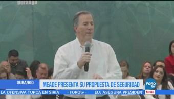 Meade presenta su propuesta de seguridad