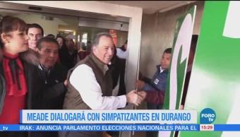 Meade Reunirá Simpatizantes Durango