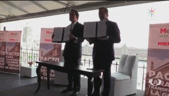 Meade y Arriola firman pacto para transformar la CDMX
