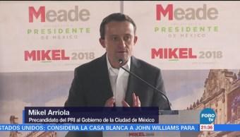 Mikel Arriola presenta propuestas para transformar a la CDMX