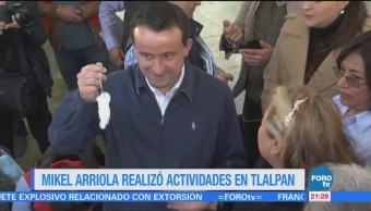Mikel Arriola realiza actividades en Tlalpan