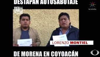hombres presuntamente contratados por morena para sabotear eventos denuncian al partido