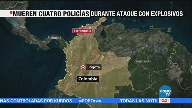 Mueren Cuatro Policías Durante Ataque Explosivos Colombia