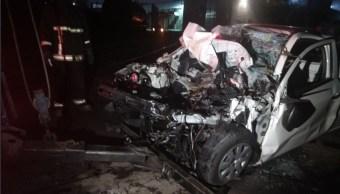 mueren dos hombres tras chocar contra tren en ecatepec