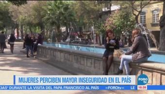 Mujeres se sienten inseguras en México