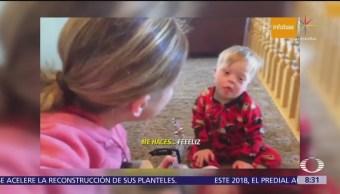 Niño con síndrome de Down aprende a través de la música