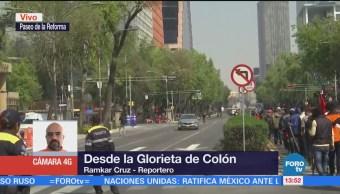Manifestantes Afectan Tránsito Paseo Reforma