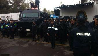 Policía capitalina realiza operativo en límites con Estado de México