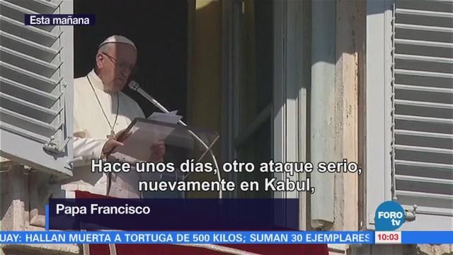 Papa Francisco condena ataque en Afganistán