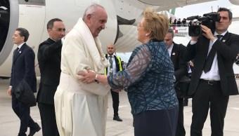 Papa Francisco llega Chile inicio visita cuatro días