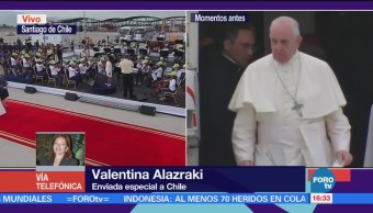 Papa Francisco Llega Chile Visita Cuatro Días