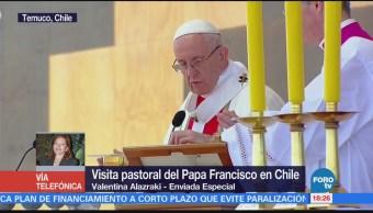 Papa Francisco oficia misa en la zona más pobre de Chile