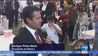 Peña Nieto Esposa Conviven Niños Casas Hogar Dif