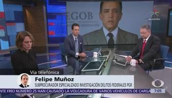 PGR es imparcial en caso Alejandro Gutiérrez, afirma el subprocurador Felipe Muñoz