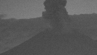 Se registra explosión en cráter de volcán Popocatépetl